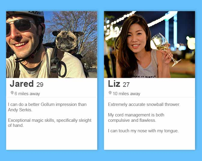best Tinder bios and Tinder profile tips including listing obscure skills
