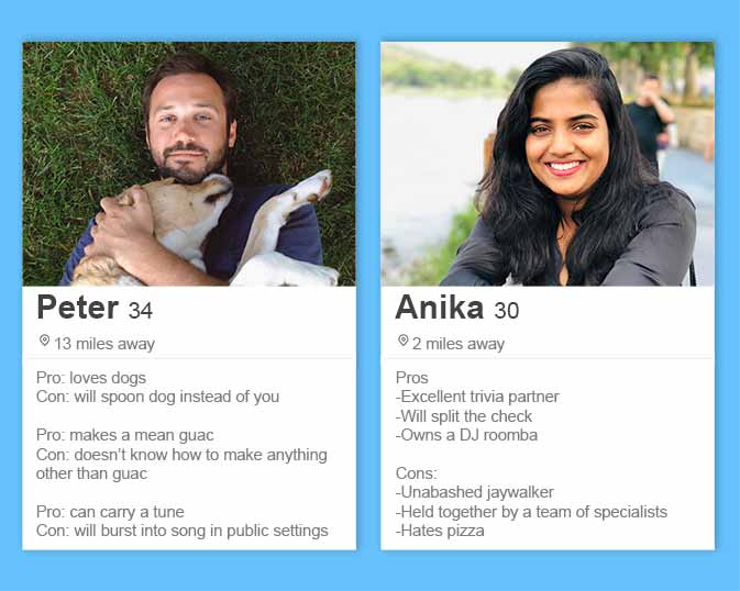 best things to write on your dating profile