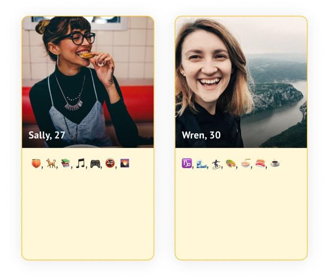 Blank template tinder profile Creative Tinder