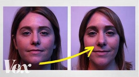 female selfie distortion