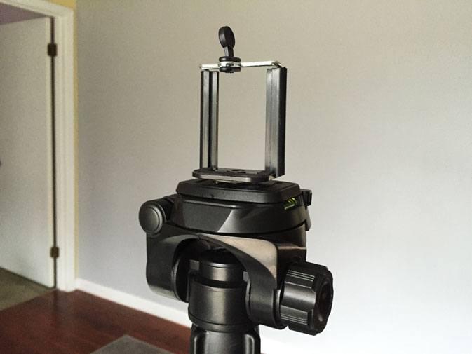 Cheap tripod smartphone stand for taking your own professional headshot photo