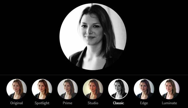 LinkedIn Profile Picture Photo Editor - Classic Filter