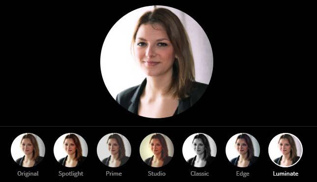 LinkedIn Profile Picture Photo Editor - Luminate Filter