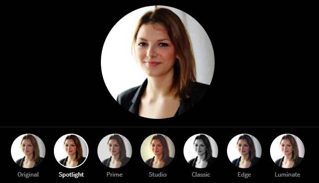 LinkedIn Profile Picture Photo Editor - Spotlight Filter