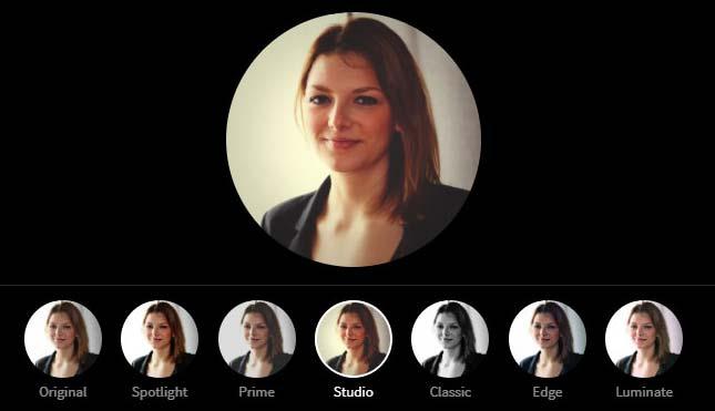LinkedIn Profile Picture Photo Editor - Studio Filter