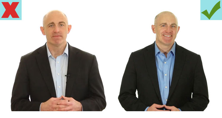 Smile in your LinkedIn photo to project warmth and avoid misunderstanding
