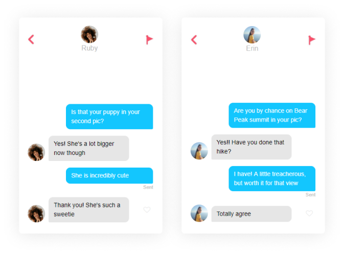 Tinder question game